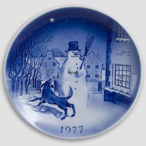 The Snow Man 1977 Desiree Hans Christian Andersen Christmas plate | Year 1977 | No. DX1977 | Alt. D770 | DPH Trading