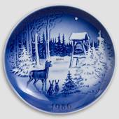 The Bell - 1986 Desiree Christmas Hans Christian Andersen plate, cake plate