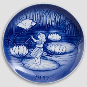 Thumbelina 1987 Desiree Hans Christian Andersen Christmas plate, cake plate | Year 1987 | No. DX1987 | Alt. D870 | DPH Trading