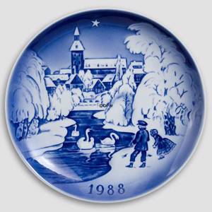 The Bell Deep 1988 Desiree Hans Christian Andersen Christmas plate, cake plate | Year 1988 | No. DX1988 | Alt. D880 | DPH Trading
