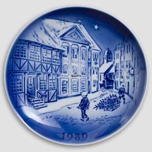 The Old House 1989 Desiree Hans Christian Andersen Christmas plate, cake plate | Year 1989 | No. DX1989 | Alt. D890 | DPH Trading
