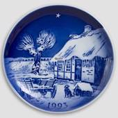 The Old Farmhouse - 1993 Desiree Hans Christian Andersen Christmas plate, c...