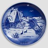 The Snowdrop - 1996 Desiree Hans Christian Andersen Christmas plate, cake p...