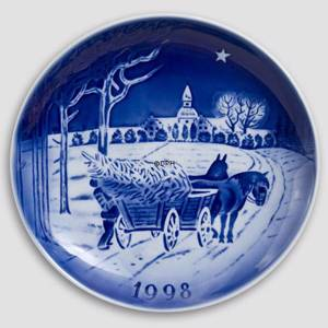 The Gardener and the Squire 1998 Desiree Hans Christian Andersen Christmas plate, cake plate | Year 1998 | No. DX1998 | Alt. D980 | DPH Trading