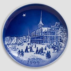 The Two Baronesses 1999 Desiree Hans Christian Andersen Christmas plate, cake plate | Year 1999 | No. DX1999 | Alt. D990 | DPH Trading