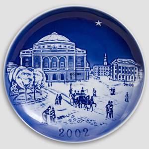 The Kings New Square and The Royal Theatre 2002 Desiree Hans Christian Andersen Christmas plate, cake plate | Year 2002 | No. DX2002 | DPH Trading