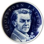 Elgporslin plate with Thorbjorn Falldin