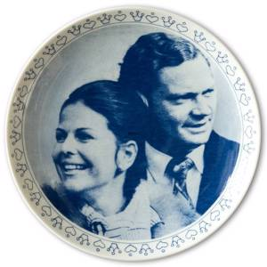 Elgporslin plate, engagement between King Carl Gustaf and Silvia | No. ELG1003 | DPH Trading