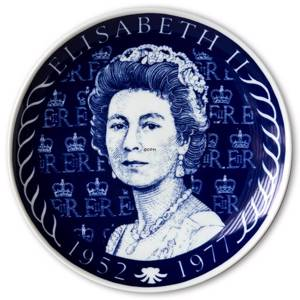 Elgporslin Swedish Commemorative Plate Elisabeth II 1952-1977 | No. ELG1014 | DPH Trading