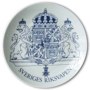 Elgporslin Swedish Commemorative Plate Swedish national arms 1873-1973 | Year 1973 | No. ELG1026 | DPH Trading
