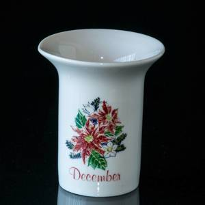 Elgporslin Monthly Vase with Flower December | No. ELGM12 | DPH Trading