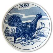 1980 Elg porslin plate with Wild birds, black grouse