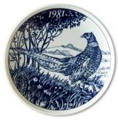1981 Elg porslin plate with Wild birds, Pheasant