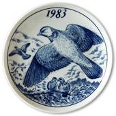 1983 Elg porslin plate with Wild birds, Dove