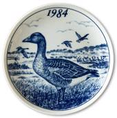 1984 Elg porslin plate with Wild birds, Goose