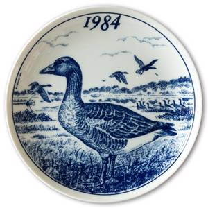 1984 Elg porslin plate with Wild birds, Goose | Year 1984 | No. ELGV1984 | DPH Trading