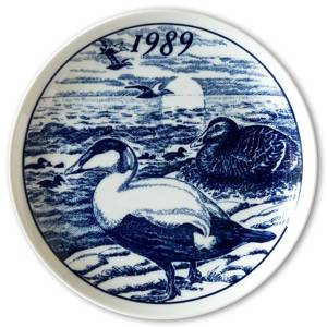 1989 Elg porslin plate with Wild birds, Duck | Year 1989 | No. ELGV1989 | DPH Trading