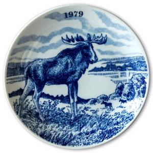 1979 Elg porslin plate Wilderness Series, Moose