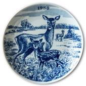 1980 Elg porslin plate Wilderness Series, Roe Deer