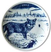 1982 Elg porslin plate Wilderness Series, Fox