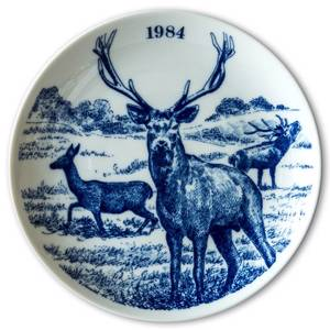 1984 Elg porslin plate Wilderness Series, Deer