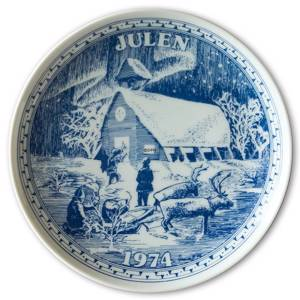 1974 Elgporslin Christmas plate Sweden | Year 1974 | No. ELGX1974 | DPH Trading