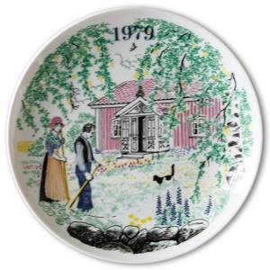 Elg Red Cross Plate with Swedish Folksongs 1979 | Year 1979 | No. ESF1979 | DPH Trading