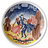 Elg Red Cross Plate with Swedish Folksongs 1982