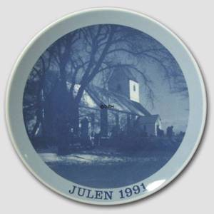 1991 Christmas plate Familie Journalen