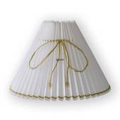 White pleated lamp shade with gold wire, fits Asmussen table lamp with 3 dr...