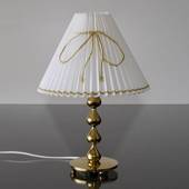 White pleated lamp shade with gold wire, fits Asmussen table lamp with 4 dr...