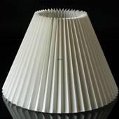 Pleated lamp shade of off white flax fabric 21cm to reading lamp Ø34mm
