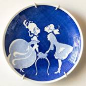 Gustavsberg Annual Plate with Silhuet by Einar Nerman 1981