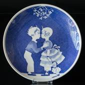 Gustavsberg Annual Plate with Silhuet by Einar Nerman 1990