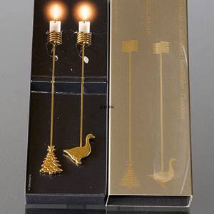 Christmas Tree and Goose Georg Jensen candleholder set 1998 | Year 1998 | No. GJLH1998 | Alt. 3581762 | DPH Trading