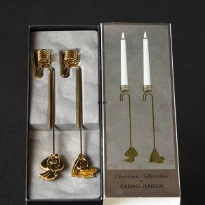 Angel and Virgin Mary with Jesus - Georg Jensen candleholder set 2012