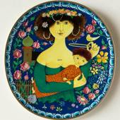 1982 Gustavsberg Art Christmas plate, The Virgin Mary with Baby Jesus