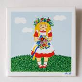 "Gustavsberg Tile with Summer Girl in the series ""Summer in Sweden"" Pia Ronn..."