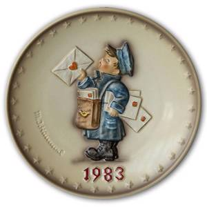 Hummel Annual Plate with the little Mailman | Year 1983 | No. HA1983 | Alt. HÅ830 | DPH Trading
