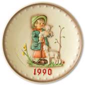 Hummel Annual plate 1990 The little shepherd