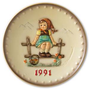 Hummel Annual plate 1991 Girl waiting | Year 1991 | No. HA1991 | DPH Trading
