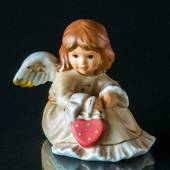 Goebel Hummel Annual Angel Figurine 2003 Angel Sitting with Heart