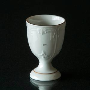 Hackefors white Egg Cup with decoration and golden edge