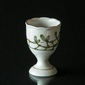 Hackefors Egg Cup, white with mistletoe | No. HAG03 | DPH Trading