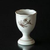 Hackefors Egg Cup, white with grey rose
