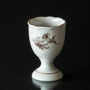 Hackefors Egg Cup, white with grey rose | No. HAG05 | DPH Trading