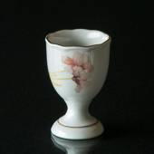 Hackefors Egg Cup, white with pink flower