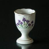 Hackefors Egg Cup, white with purple flower