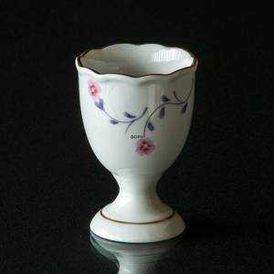 Hackefors Egg Cup, white with purple branch and pink flower