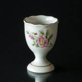 Hackefors Egg Cup, white with pink rose